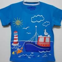 Baju kaos karakter anak laki-laki Oshkosh kapal laut 1-6