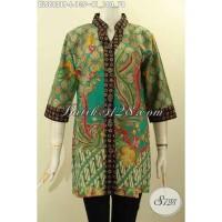 Baju Batik Wanita Trendy Motif Bagus Model Kekinian Size L BLS8821P