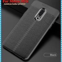 Softcase Carbon Fiber Leather Premium Cover Case Casing HP Meizu M16