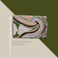 Kain Batik Tulis Solo Abstrak Super Kontemporer Kode SK15