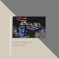 Kain Batik Tulis Solo Abstrak Super Kontemporer Kode SK01