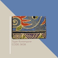 Kain Batik Tulis Solo Abstrak Super Kontemporer Kode SK08