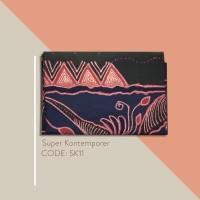 Kain Batik Tulis Solo Abstrak Super Kontemporer Kode SK11