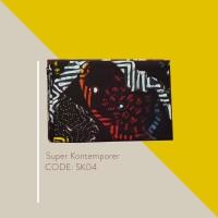 Kain Batik Tulis Solo Abstrak Super Kontemporer Kode SK04