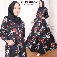 Maxi Raisa Flower Baju Muslim Wanita Gamis Model Kekinian Terbaru