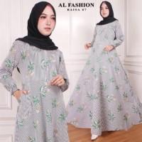 Maxi Raisa Flower 7 Baju Muslim Wanita Gamis Model Kekinian Terbaru