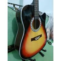 Gitar Akustik Elektrik Ibanez Sunburst Trusrod Eq Pasif Bonus Softcase