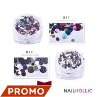 Metallic M mini round nail art decoration / nail decor