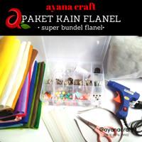 Paket Kain Flanel Super Lengkap Untuk Pemula