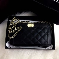 892c87e6df73 CHANEL Matelasse Quilted Double Zip Chain Pochette SS17/18#71536