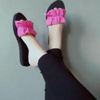Sandal selop sandal kokop sandal flat teplek sandal murah wanita kerut - Fanta, 36