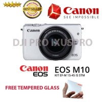 Canon Eos M10 Kit 15-45Mm Original - Kamera Mirrorless Canon + Lensa