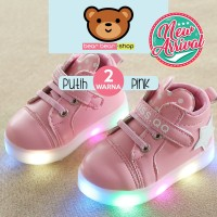 SEPATU LED ANAK SNEAKERS MICKEY STAR NEW MODEL 2018