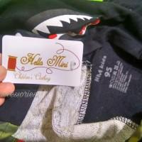 jaket anak bape hitam HM36 import black shark kid boy jacket sz 95-140