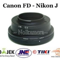Adapter Lensa Canon FD To Nikon 1 J1 J2 J3 J5 V1 V2 S1 Limited