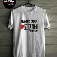 Kaos Planet surf culture simple keren