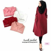hm TUNIK POCKET twistcone blouse atasan top pakaian muslim wanita baju