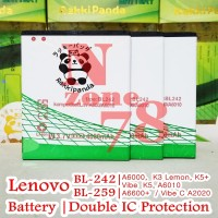 Baterai Lenovo BL242 BL-242 A6000 Lemon K3 Rakkipanda Double Power
