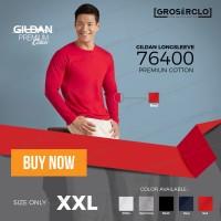 Jual kaos polos gildan premium long sleeve original murah jakarta 2XL Murah