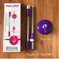 Tongkat + Kepala + Kain Pel / Handle Set Supermop Bolde Original Murah