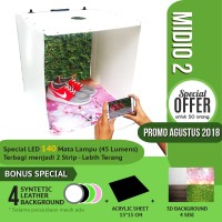 Jual MagicBox Midio 2 Portable Mini Photo Studio Light Box 50x50x45cm Murah