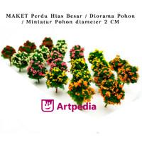 MAKET Perdu Hias Besar / Diorama Pohon / Miniatur Pohon diameter 2 cm