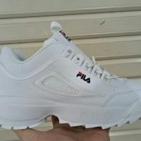 Sepatu sneakers casual running fila disruptor II 2 white putih wome