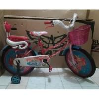 Sepeda Mini Anak Perempuan Merk Lalix Barbie Ukuran 18 Inchi Murah