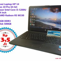 Laptop Bekas HP 14 14 inch Intel core i5-5200U VGA AMD Radeon R5 M330
