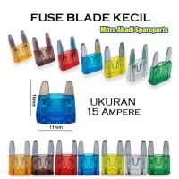 Fuse Blade Kecil/Sekring Tancap Mobil ATC Mini 15A/15 Ampere 11mm