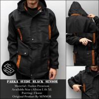 Jaket Parka Black Sensor Suede Taslan Premium
