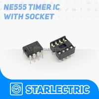 NE555 IC Precision Timer NE555P NE555 NE 555 DIP 8 dengan Socket