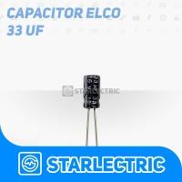 Kapasitor Elco 33uF 33 uF 16V 16 V