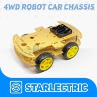 Chasis Mobil Robot 4wd 4 wd Smart Car Chasis For Arduino