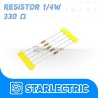 Resistor 330 330R Ohm 1/4 W 5% 5pcs/pack