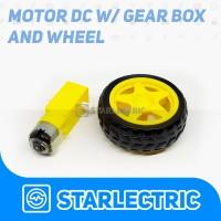 Motor DC Gearbox Kuning Dan Roda Smart Car Robot Wheel