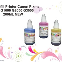 Tinta Refill Printer Canon Pixma DYE G1000 G2000 G3000 200ML NEW