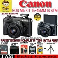 Kamera Mirrorless CANON EOS M6 KIT 15-45MM Terbaik XTT10449