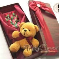 Hadiah bunga dan boneka cokelat trulychoco special