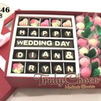 Cokelat Trulychoco hadiah pernikahan cantik