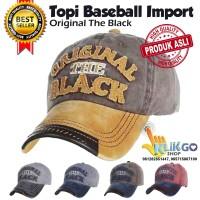 TOPI BASEBALL IMPORT ORIGINAL THE BLACK SNAPBACK CAPS TOPI DISTRO
