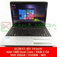 Laptop Bekas Laptop Second Acer E1-431 Intel Dual Core RAM 2 GB Mulus