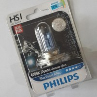 Lampu Philip HS1 HSI BlueVision Blue Vision 35 35W motor philips putih
