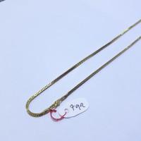 Kalung emas kuning 70% berat 7 gram panjang 44cm model victory