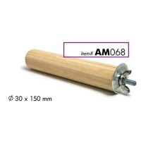 AM068 Wooden Gnaw Stick with Cage Fastener Gigitan Kelinci
