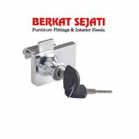 Kunci Lemari / Etalase Kaca Jepit Pintu DOUBLE