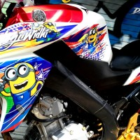 Decal Sticker 3D / Print striping new vixion advance minion vector