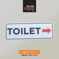Sign toilet akrilik / Signage acrylic / Sign akrilik