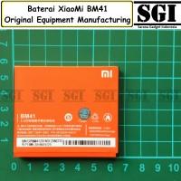 Baterai XiaoMi BM41 Redmi 1 1S Original OEM TAM Batre Batrai HP