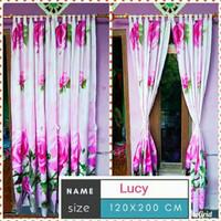 Gorden pintu motif bunga lucy gorden jendela home made